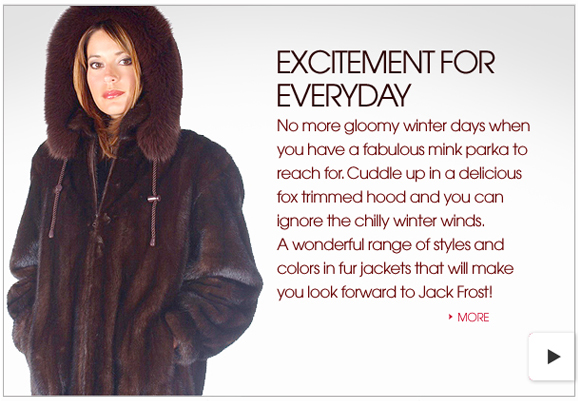 Hooded Fur Jackets